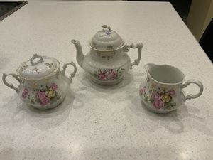 Beautiful antique 3 piece coffee or china tea set for Sale in Weston, FL