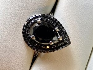 5ct black diamond wedding ring for Sale in Irvine, CA