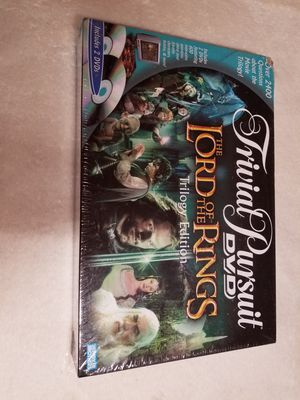 Trivial Pursuit DVD Lord of the Rings Trilogy ed. Board game for Sale in Houston, TX