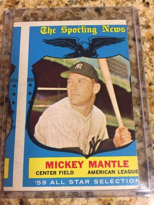 Baseball cards, 1959 Mickey Mantle $125 OBO for Sale in Harbor City, CA