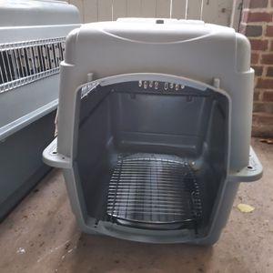 Dog crate kennel plastic pet large for Sale in Fairfax, VA
