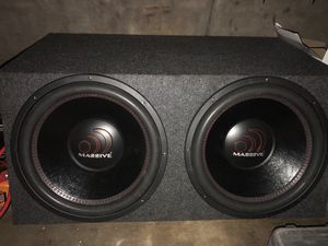 "2 15"" massive subwoofers for Sale in Davenport, FL"