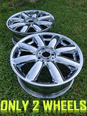 """(2) ONLY A PAIR 17"""" 17x7 4x100 07-14 Mini Cooper Clubman OEM Wheel Rim Fresh Chrome plated for Sale in Houston, TX"""