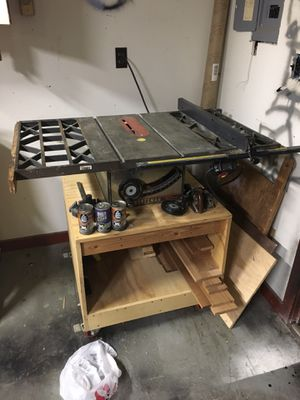 Craftsman table saw with fence and roller stand for Sale in Herndon, VA