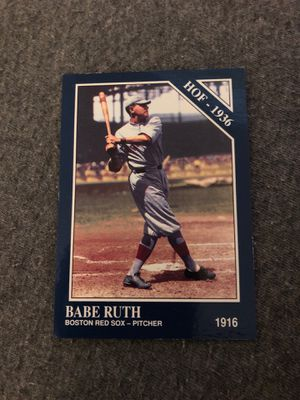 Babe Ruth Boston Red Sox HOF-1936 Baseball Card for Sale in Hialeah, FL