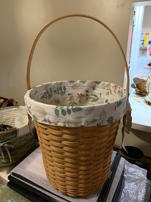 Longaberger Trash basket bin for Sale in Cocoa Beach, FL