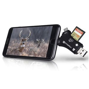 Lancergear Trail Camera Viewer SD Memory Card Reader 4 in 1 for iPhone iPad Mac & Android to View Hunting Game Photos Videos, Deer Hunting Accessories for Sale in Marysville, WA