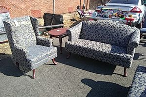 Loveseat and wingback chair set for Sale in Camden, NJ