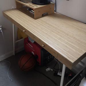 Light Brown Desk + Shelf Top for Sale in Oakland, CA