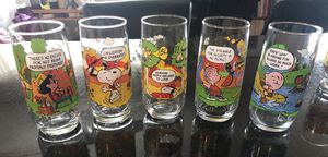 Camp Snoopy Collectible Drinking Glasses, Complete Set of 5 for Sale in Chicago, IL