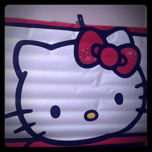 (1) Hello kitty wall hanging Vinyl - character display - room - wall - cartoon /decor for Sale in Naples, FL