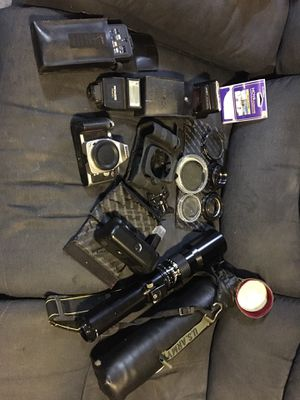 Nikon N75 35mm camera with lenses and accessories for Sale in Pipe Creek, TX
