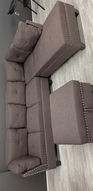 🔔FREE OTTOMAN 🔔Astra Brown Sectional for Sale in Baltimore, MD