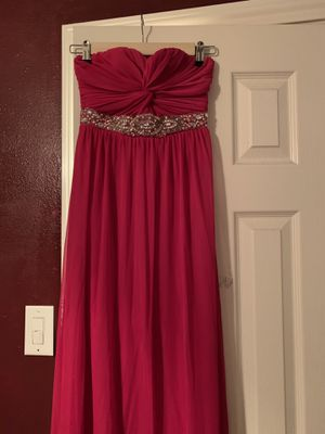 Strapless hot pink dress size 1 for Sale in Channelview, TX