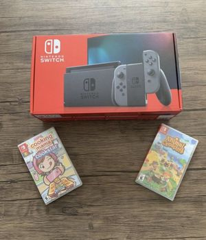 Brand new - Nintendo Switch 32gb Console - Gray Joy-Con with Animal Crossing New Horizons & Cooking Mama - Cookstar for Sale in Rochester, NY