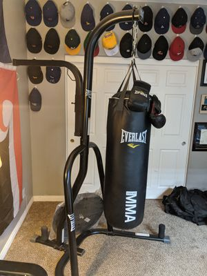 Everlast punching bag with stand and speed bag attachment for Sale in Corona, CA