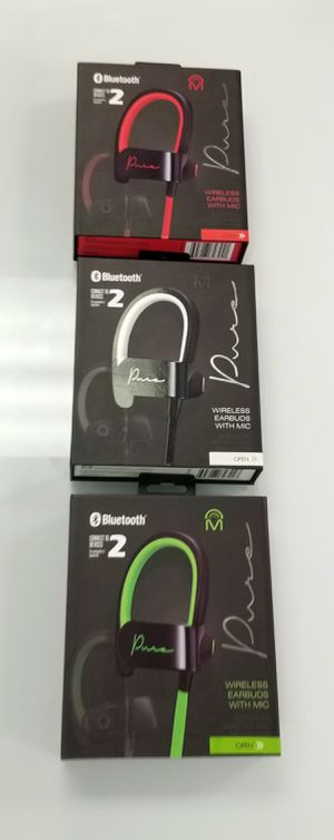 Wireless bluetooth Headphones! Pure Sound. Colors available: Green, Red, Black #speaker for Sale in Miami, FL