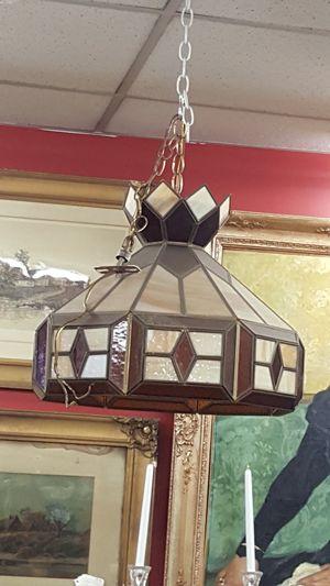 Vintage slag glass hanging light fixture chandelier for Sale in Medford, MA