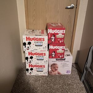 Huggies Diapers Size 1 And 2 for Sale in Tacoma, WA