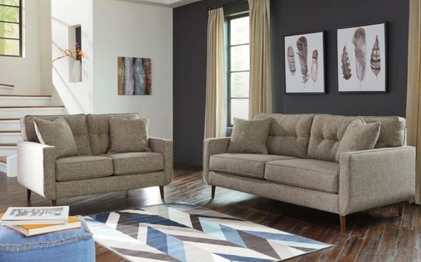 Brand New in box Dahra Jute Living Room Set includes SOFA AND LOVESEAT#