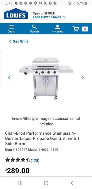 Gas grill for Sale in Lock Haven, PA