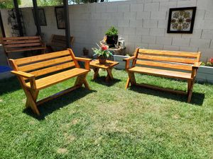 Outdoor patio bench set 3 pieces for Sale in Fresno, CA