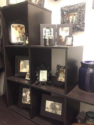 Black unique staircase book shelf $40 OBO for Sale in Dallas, TX