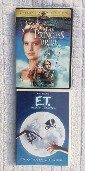 The Princess Bride & ET DVD Bundle for Sale in Fresno, CA
