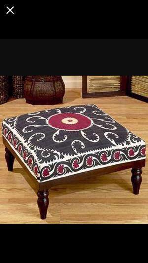 World market bohemian ottoman for Sale in Fairfax, VA