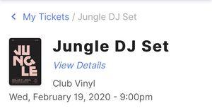 Jungle DJ set Club Viny ticket for Sale in Denver, CO