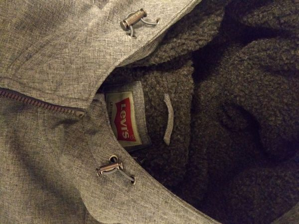New Levi's Sherpa lined hoodie bomber jacket