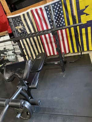 Marcy Diamond Elite bench with leg curl/extension & preacher curl station for Sale in Dearborn, MI
