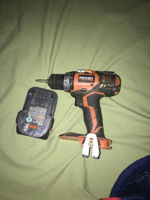 Rigid drill set with charger and battery for Sale in Methuen, MA