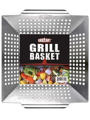 Grill Basket for Vegetables & Meat – Large Grill Wok/Pan for the Whole Family - Heavy Duty Stainless Steel Veggie Grilling Basket Built to Last - Bes for Sale in Guadalupe, AZ