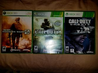 COD Xbox 360 Games Package for Sale in Waynesboro,  VA