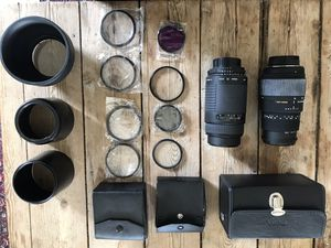 Nikon mount Sigma zoom lenses with UV filters and Lens Hoods for Sale in Glendale, CA