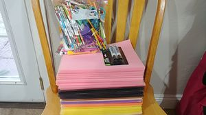 Construction paper assorted & mixture of art pencils for Sale in Lakeside, AZ