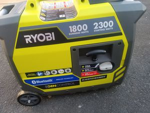 Ryoby generator gasoline powered w Bluetooth for Sale in Revere, MA