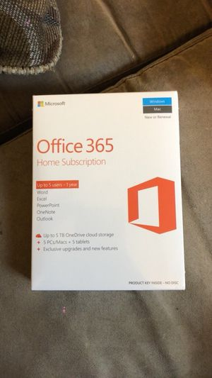 Brand New Unopened Office 365 Home Subscription for Sale in Denver, CO