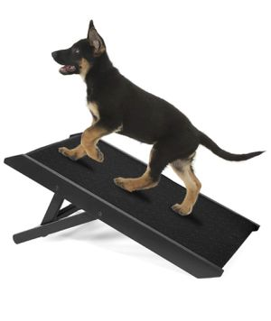 IN HAND Adjustable Pet Ramp, Folding Portable Dog & Cat Access Perfect for Beds and Cars, Non Slip Free Standing Wide Ramp Support 160 Lbs Large Dogs for Sale in Downey, CA