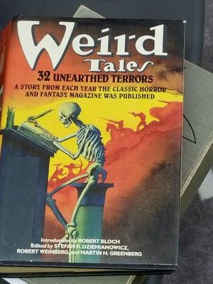 Weird Tales vintage hardcover book with great cover art for Sale in Gainesville, VA