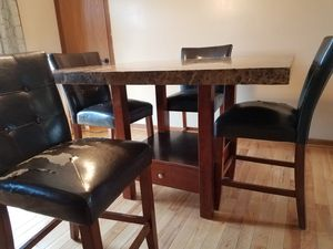 Granite kitchen table with 4 chairs for Sale in Glenford, OH