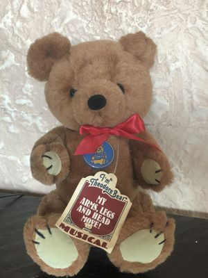 Vintage 1981 R Dakin Theodore Bear Musical Stuffed Animal Plush Filled Toy for Sale in Sacramento, CA