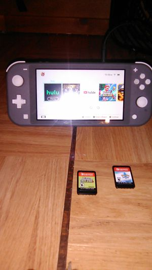 Nintendo switch lite bundle $$275 firm for Sale in Perris, CA