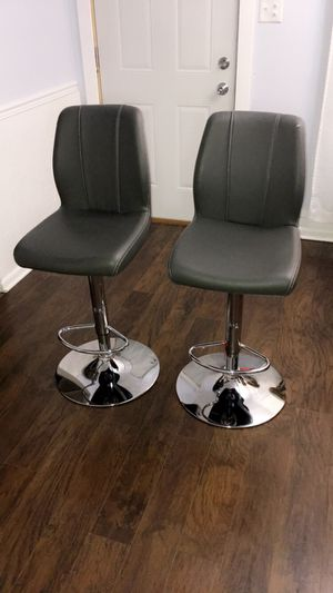 Modern pair of two gray stools $100 price not negotiable firm for Sale in Hammond, IN