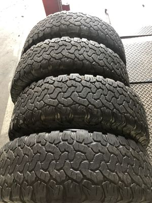 4 LT 275 70 R 18 Bfgoodrich All Terrain TA KO2 tire's for sale for Sale in Pasadena, TX