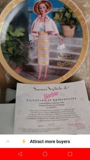 Brand new Barbie collectible plate for Sale in Cincinnati, OH