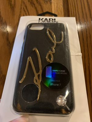 Black Karl Lagerfeld Iphone 7 Case for Sale in Los Angeles, CA