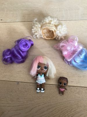 Lol doll, little sister and wigs for Sale in Orinda, CA