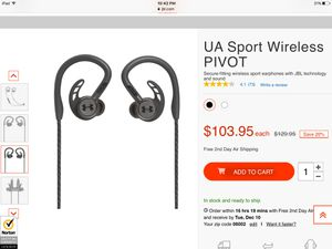 Under Armour/ JBL over the ear earbuds for Sale in Windsor, CT